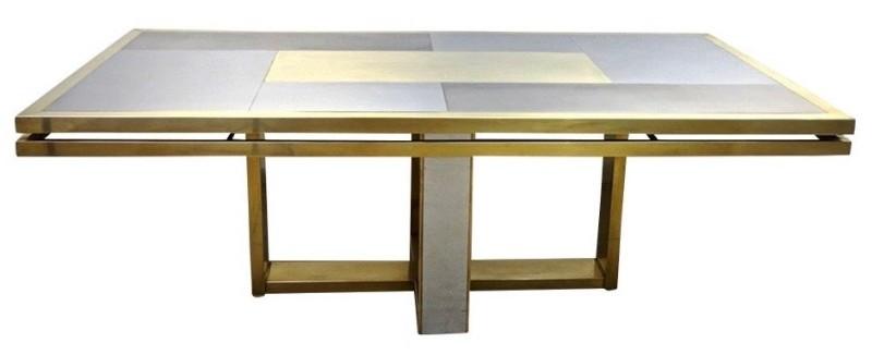 italian-brass-satin-chrome-geometric-large-dining-table
