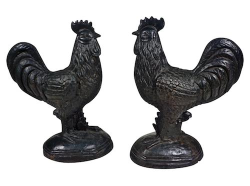 antique-french-black-cast-iron-cockerels-199p