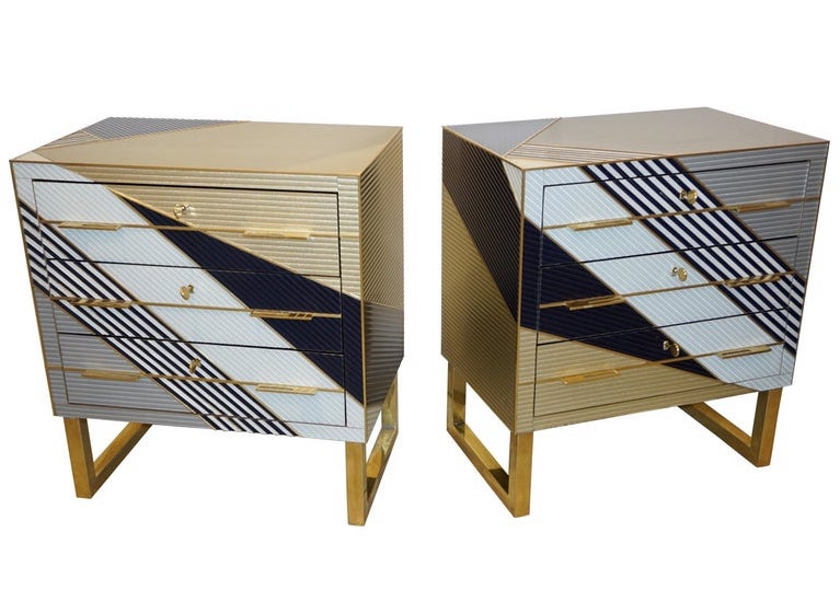 bespoke-italian-black-gold-gray-chests-nightstands-brass-legs-818pb