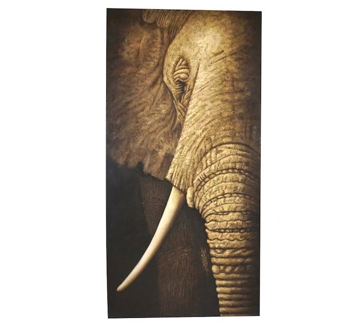 contemporary-italian-oil-painting-elephant