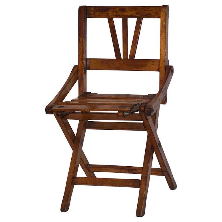 antique-oak-doll-miniature-folding-chair