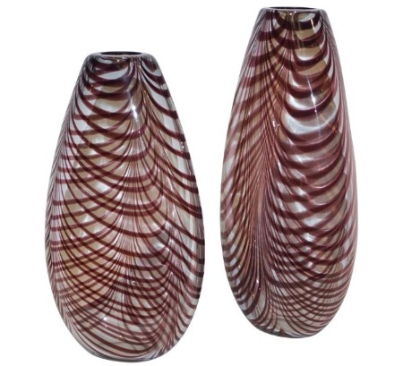 formia-feather-decorated-purple-murano-glass-vases