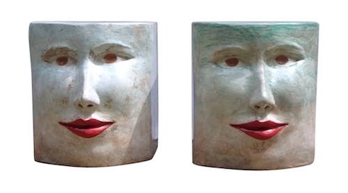 italian-pop-art-blue-green-terracotta-face-stools-side-tables-c19gg1