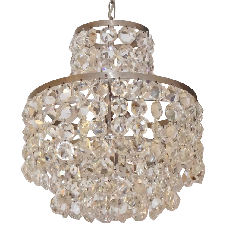 vintage-satin-chrome-murano-glass-chandelier-688pa