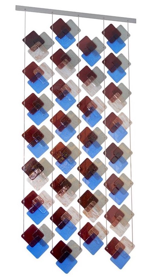 italian-geometric-square-murano-glass-curtain-divider