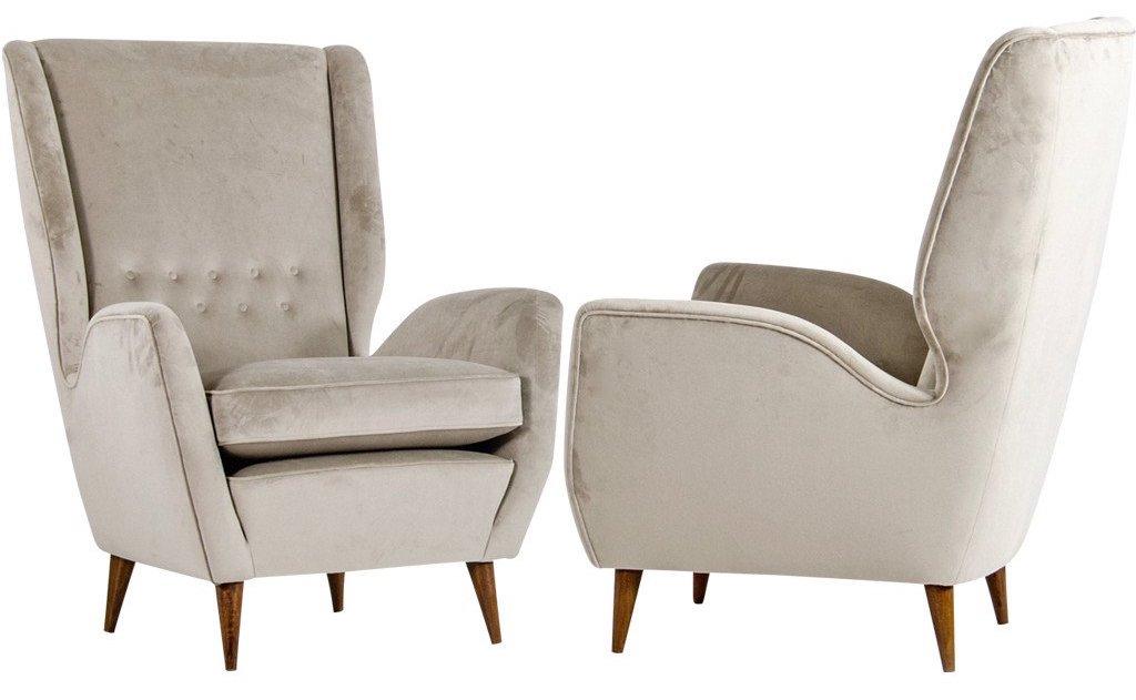 1940s-gio-ponti-velvet-armchair
