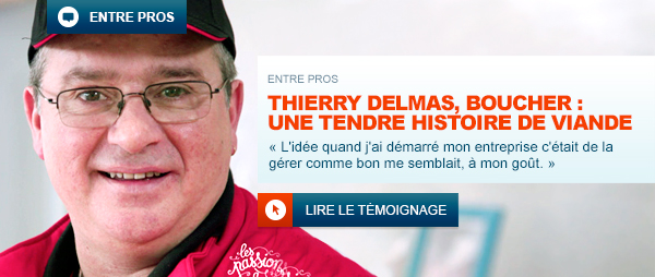 photo de protrait de Thierry Delams, boucher