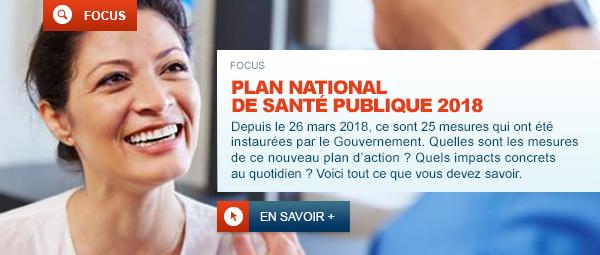 Plan National de Santé Publique 2018 : 25 nouvelles mesures