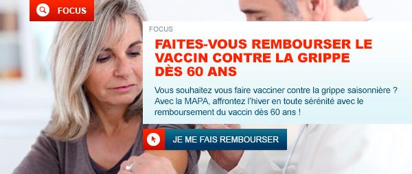 Vaccin contre la grippe : la MAPA vous le rembourse, dès 60 ans !