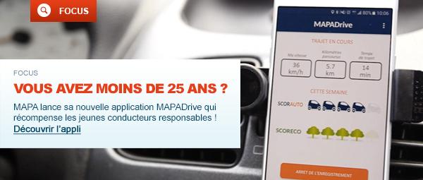 Vous avez moins de 25 ans ? MAPA lance sa nouvelle application Apple et Android pour les jeunes conducteurs responsables !