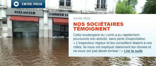 Rue commerçante de la Ferté-Saint-Aubin (45) inondée en mai 2016