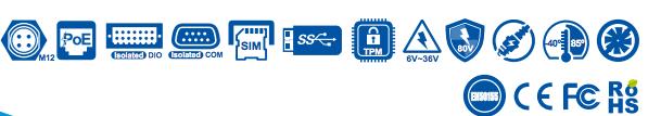 certificazioni Features PC fanless ARS 2000