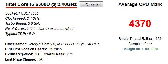 Intel Core i5-6300U