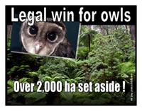 Legal win for Owls Over 2,000 ha set aside!