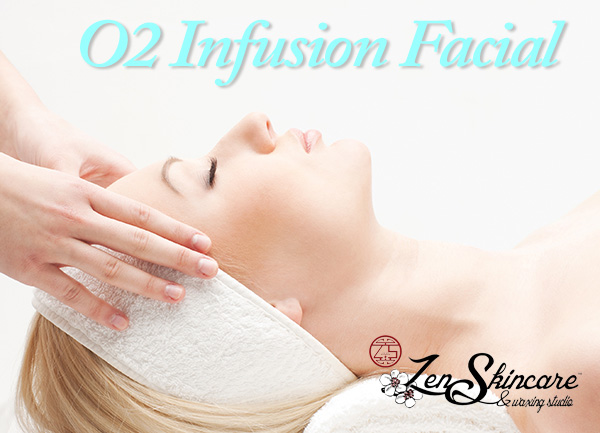 O2 Infusion Facial to repair UV damage at Zen Skincare and Waxing Studio