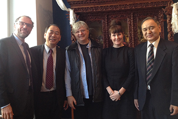 Meeting with the Office of Tibet in washington DC. From Left: Mike Wohl, Lobsang Nyandak, Geoff Jukes, Dolma Beresford, Rinchen Dharlo