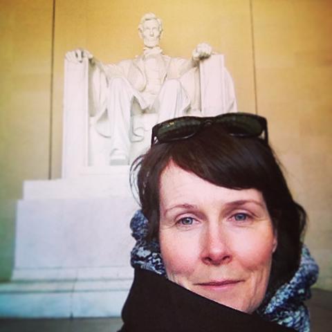 Dolma Beresford at the Lincoln Memorial