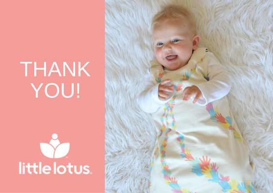 Thank you - Baby in Little Lotus Sleeping Bag