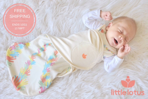 Free shipping - baby in Little Lotus Swaddle