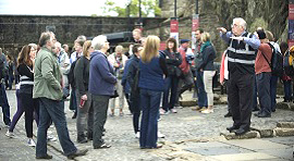 Photo of a signed tour at Edinburgh Castle.