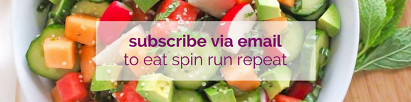 subscribe via email to eat spin run repeat