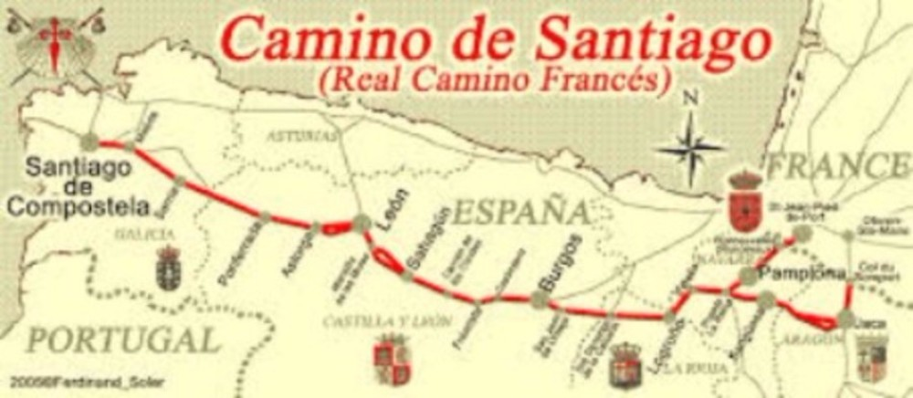Camino de Santiago Route Map