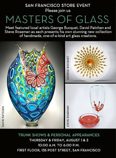 David Patchen featured in Masters of Glass at Gump's