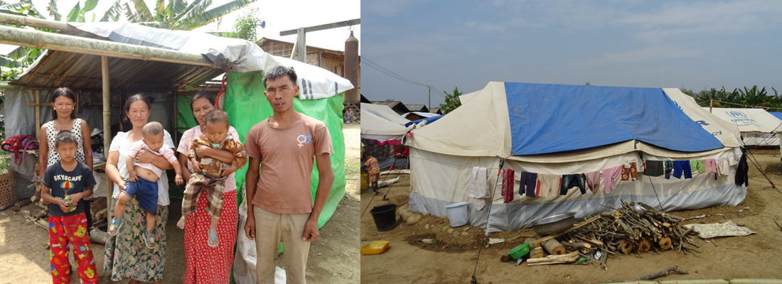 This family had to run from Burmese army attacks