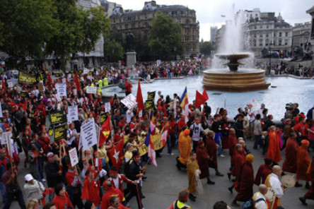 Rally in Trafalgar Square, London in 2007