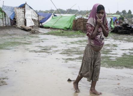 A Rohingya refugee camp in Rakhine State, Burma