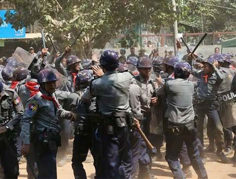 British government fails to act as Burmese students beaten and arrested