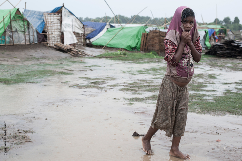 A Rohingya IDP camp in 2013. This camp hadn't had food in 5 days.