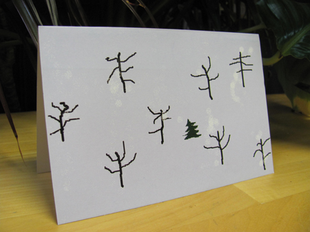 Aung San Suu Kyi designed and signed greeting card