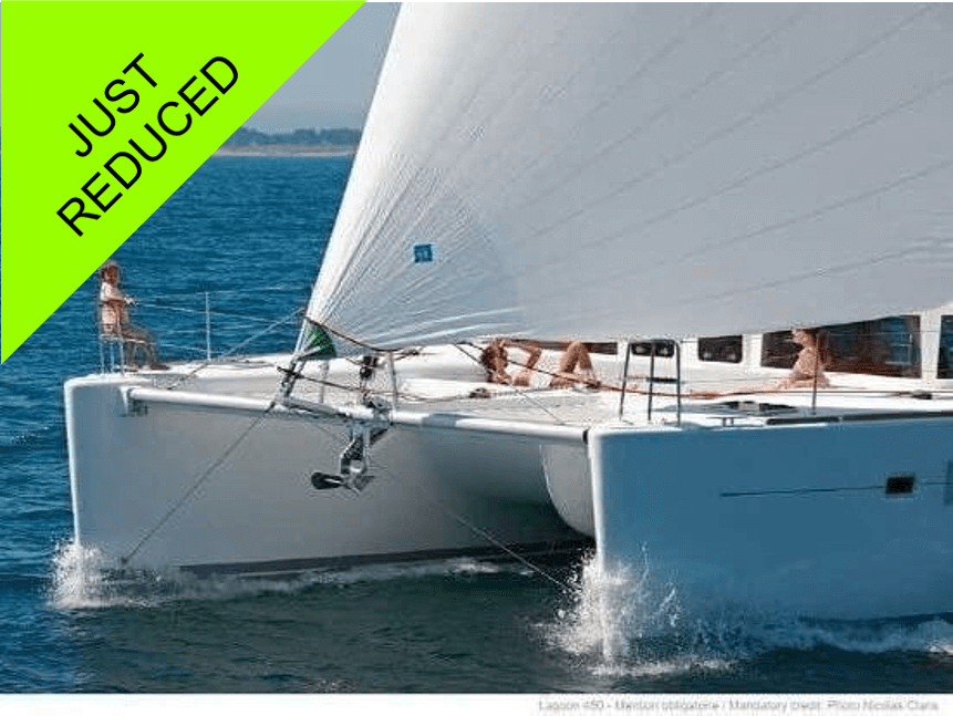 2013 Lagoon 450 named aquamarine for sale by catamaran guru