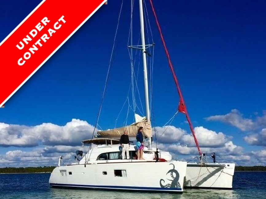 2008 lagoon 380 named see i told you so is under contract with catamaran guru