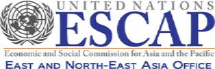 Logo of the United Nations Economic and Social Commission for Asia and the Pacific - East and North-East Asia Office