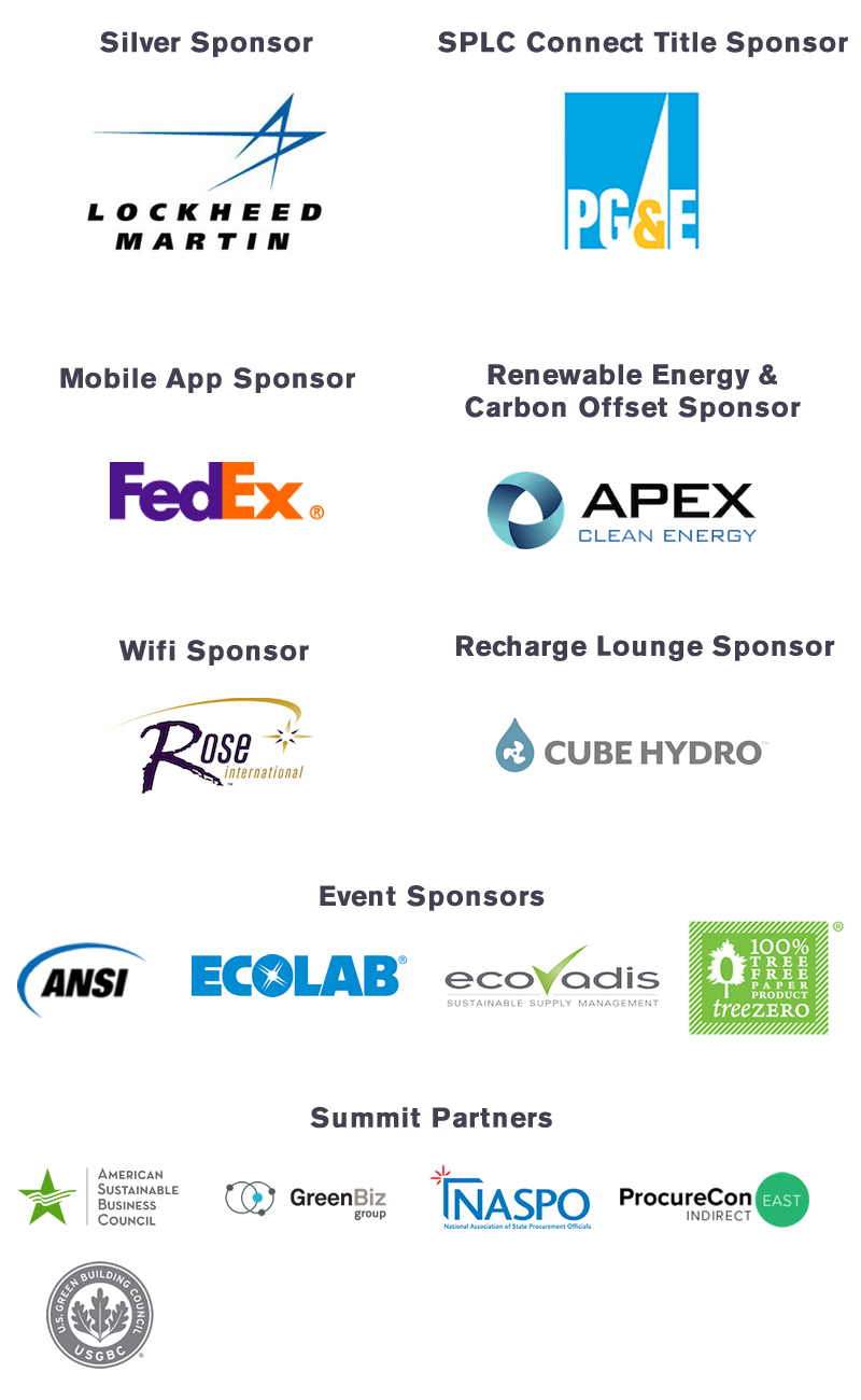 2017 SPLC Summit sponsors