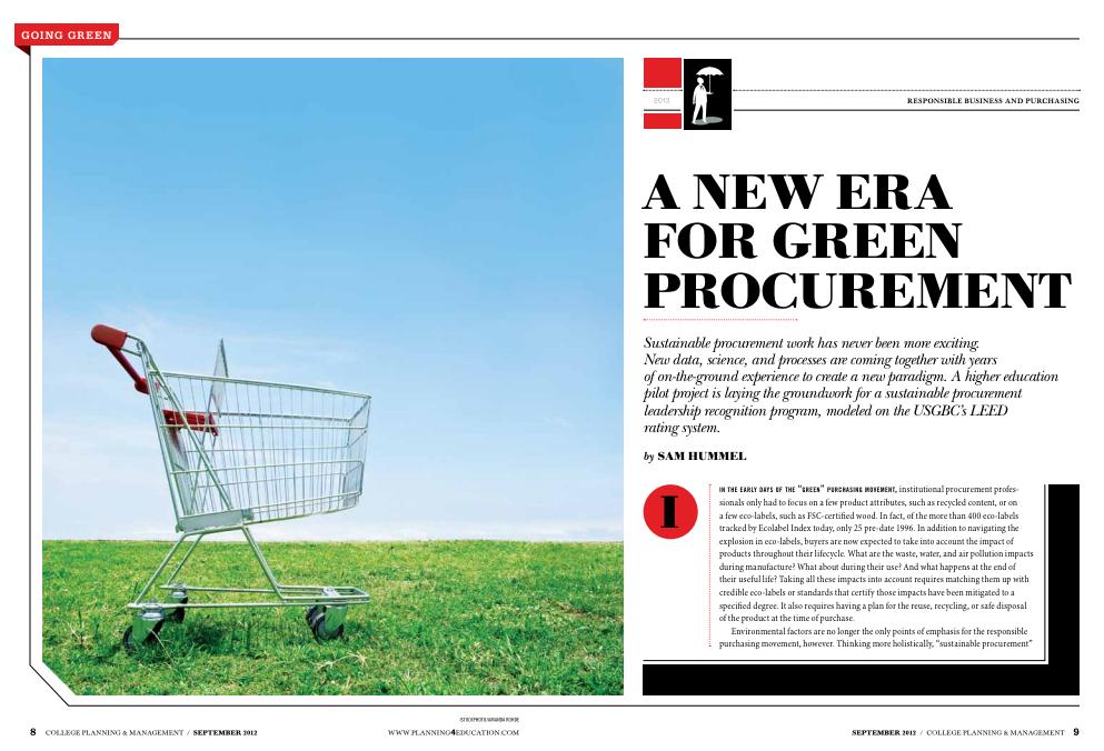 A New Era for Green Procurement