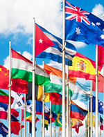 Photo of flags from many nations