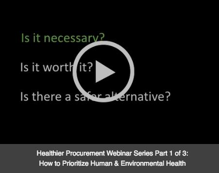 Healthier Procurement Webinar Series Part 1 Video