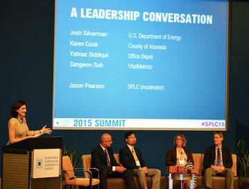Leadership Awards winners on the Summit mainstage