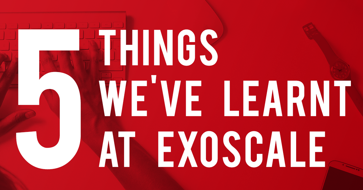 Read about five of the things we've learnt at Exoscale