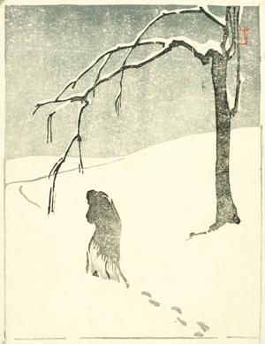"""Hedwig Jarke, """"Spuren"""", Farbholzschnitt 1909"""