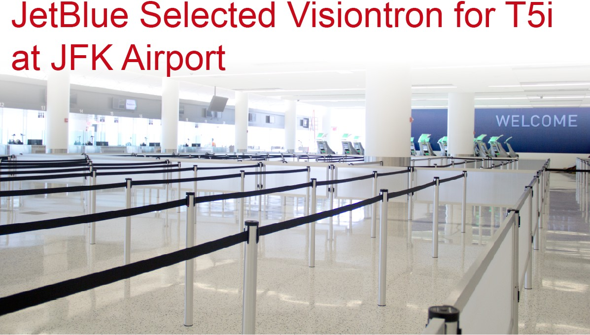Mini Socket Stanchions and Post-N-Panels at JetBlue T5i
