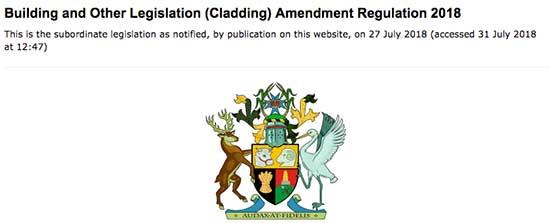 QLD Cladding Legilsation