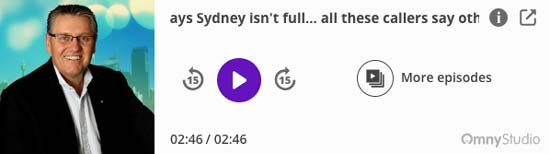 2GB Ray Hadley Sydney Congestion