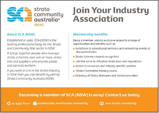 SCA (NSW) Lot Owner Membership