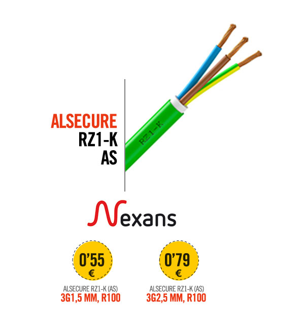 ALSECURE RZ1-K (AS), 3G1,5 MM, R100