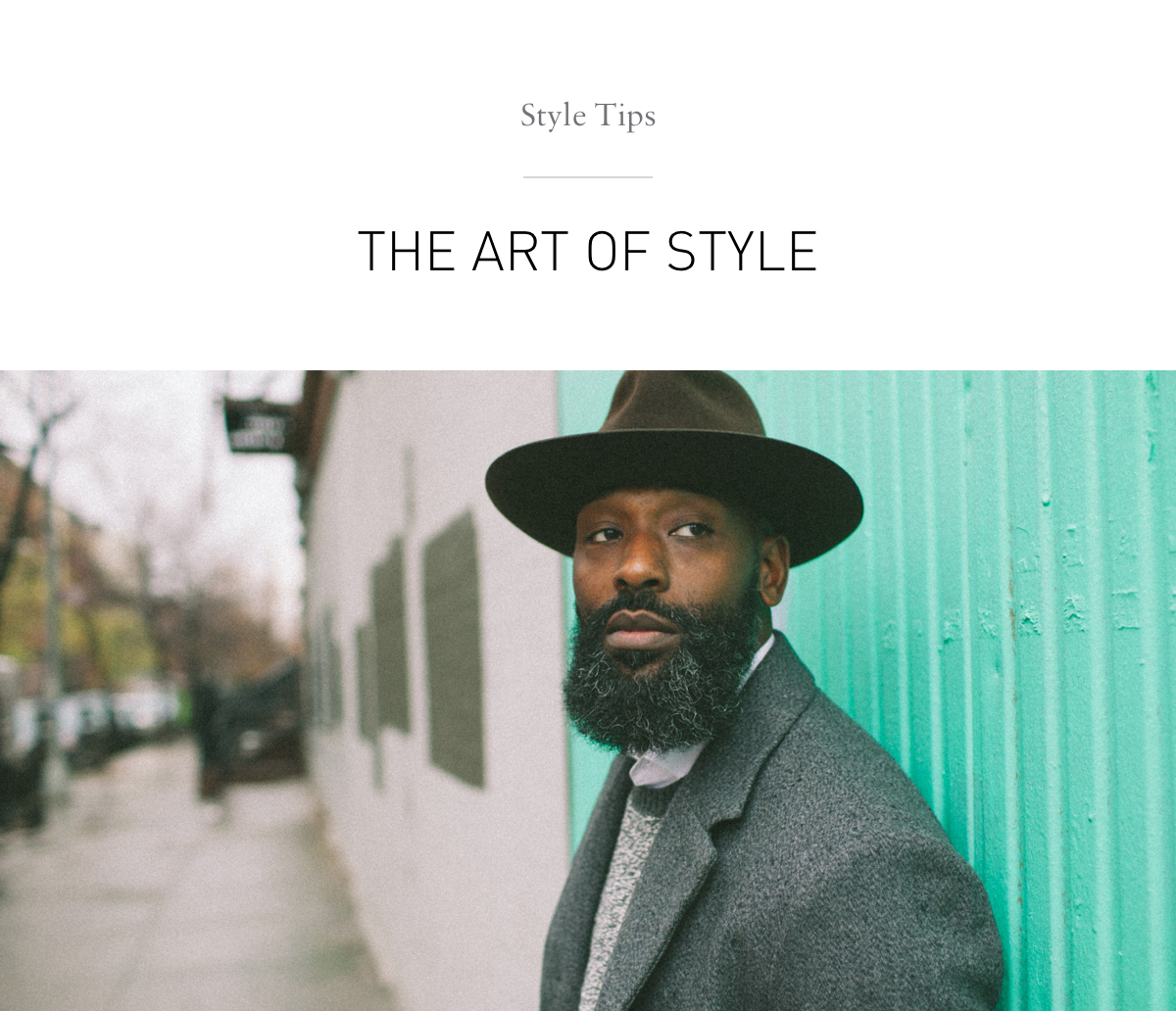 Style Tips: The Art Of Style