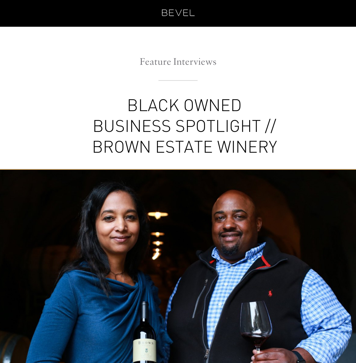 Feature Interviews: Brown Estate Winery